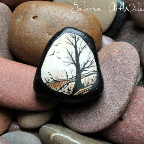 Hand painted pebble