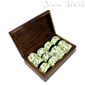 "Napkin holders -""Italiana"" in wooden box"