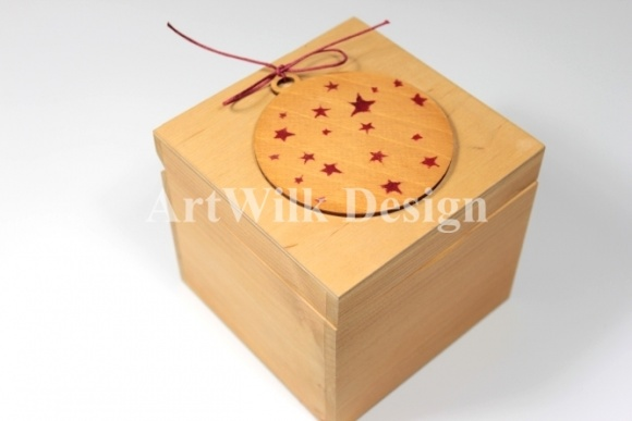 "Wooden box - ""Christmas ornament"""