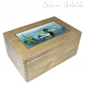 "Box ""Landscape with a duck"""