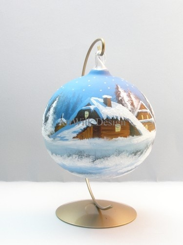 Hand painted glass ball 31/66
