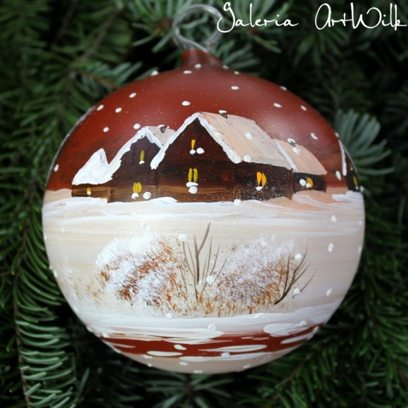 Hand painted glass ball 12/31/142
