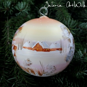 Hand painted glass ball 12 / 31 / 146