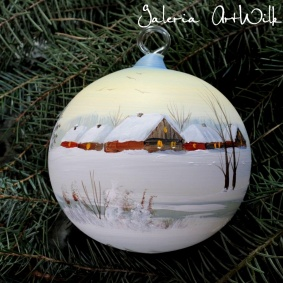 Hand painted glass ball 12 / 31 / 711