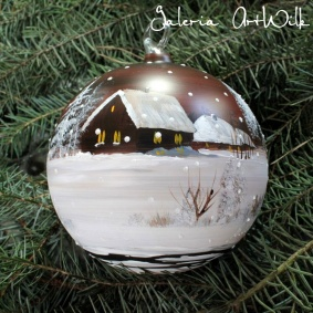 Hand painted glass ball 12 / 31 / 721