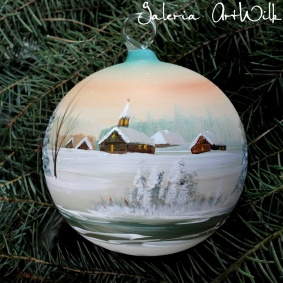 Hand painted glass ball 12 / 31 / 723