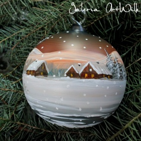 Hand painted glass ball 12 / 31 / 749