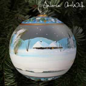 Hand painted glass ball 12 / 32 / 274