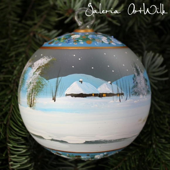 Hand painted glass ball 12/32/274