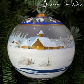 Hand painted glass ball 12 / 32 / 275
