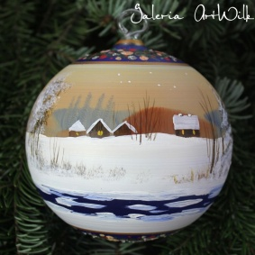 Hand painted glass ball 12 / 32 / 276