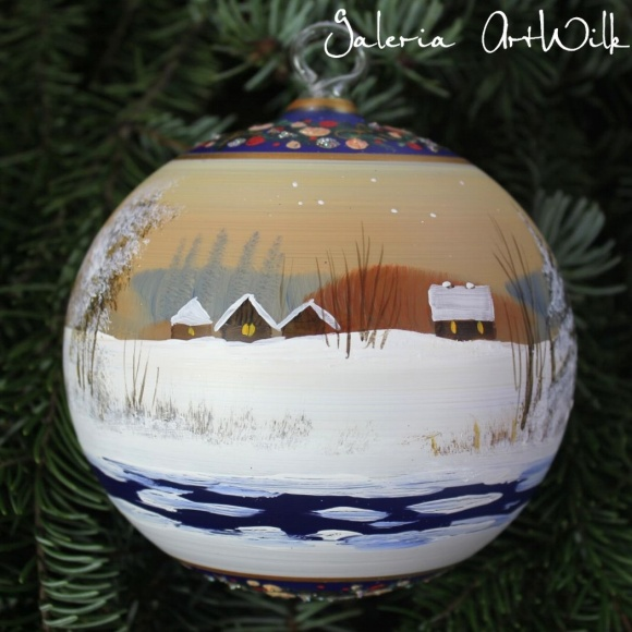Hand painted glass ball 12/32/276