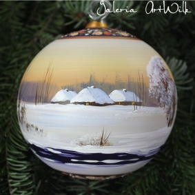 Hand painted glass ball 12 / 32 / 277