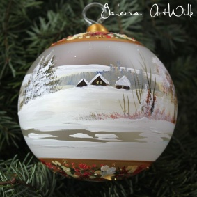 Hand painted glass ball 12 / 32 / 280