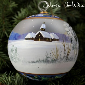 Hand painted glass ball 12 / 32 / 281