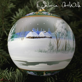 Hand painted glass ball 12 / 32 / 282