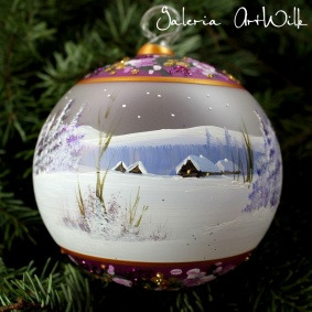 Hand painted glass ball 12 / 32 / 283