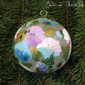 Hand painted glass ball 10 / 35 / 201br