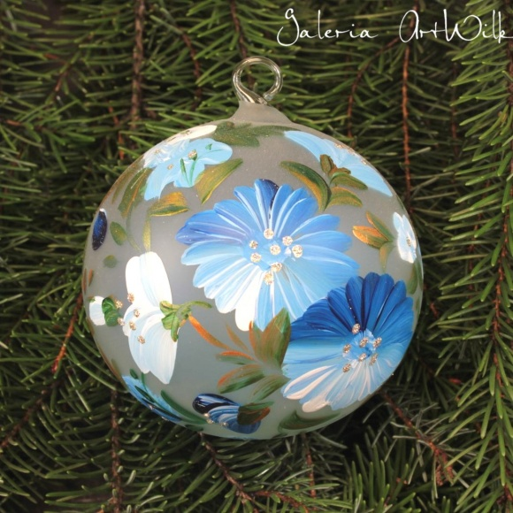 Hand painted glass ball 10/35/202br
