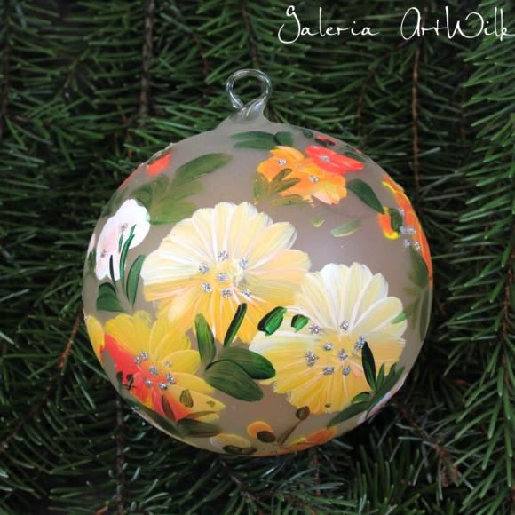 Hand painted glass ball 10/35/200br