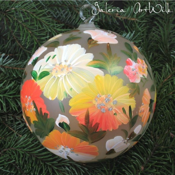Hand painted glass ball 15/35/200br