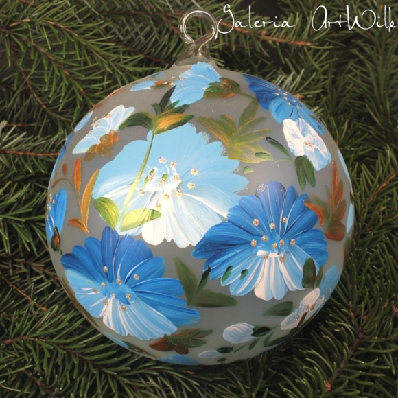 Hand painted glass ball 15/35/202br