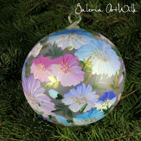 Hand painted glass ball 15 / 35 / 201br