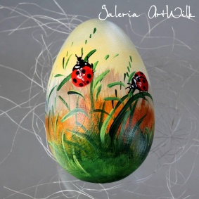 "Wooden Easter egg "" Ladybugs"""