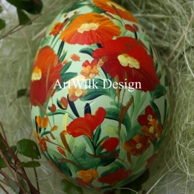Wooden easter egg 34-35b-1