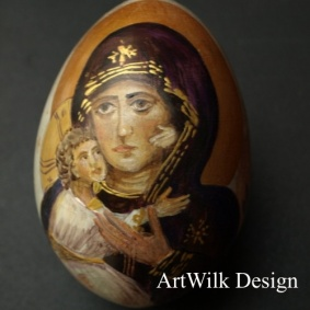 Wooden easter egg- Icon