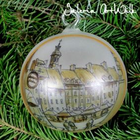 Hand painted glass ball - Warsaw