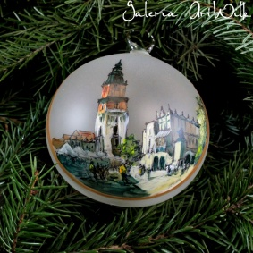 Hand painted glass ball - Krakow