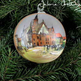 Hand painted glass ball - Wrocław