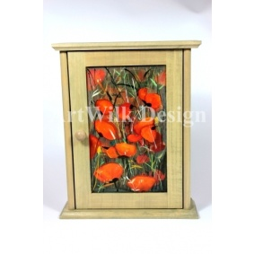 "Key cabinet - ""Poppies"""
