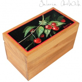 "Wooden box - ""Cherries"""