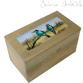 "Wooden box ""Bee-eaters"""