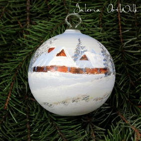 Hand painted glass ball 8 / 31 / 55