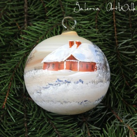 Hand painted glass ball 8 / 31 / 83