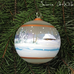 Hand painted glass ball 8 / 32 / 258
