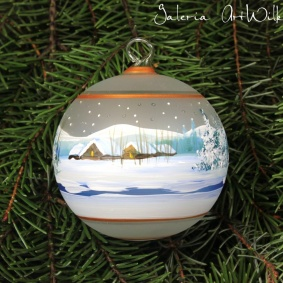 Hand painted glass ball 8 / 32 / 259