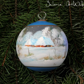 Hand painted glass ball 8 / 32 / 264