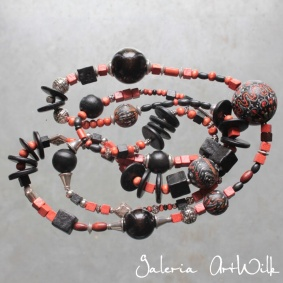 Wooden hand painted beads