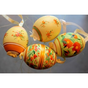 Collection of 4 duck easter eggs