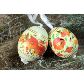 Collection of 2 duck easter eggs