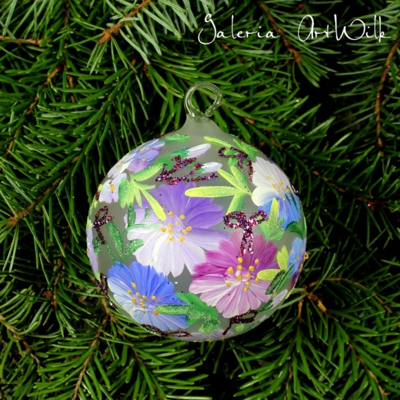 Hand painted glass ball