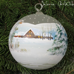 Hand painted glass ball 15 / 31 / 16