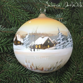 Hand painted glass ball 15 / 31 / 22