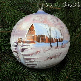 Hand painted glass ball 15 / 31 / 767