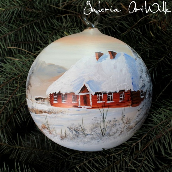 Hand painted glass ball 15/31/83