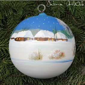 Hand painted glass ball 15 / 31 / 10